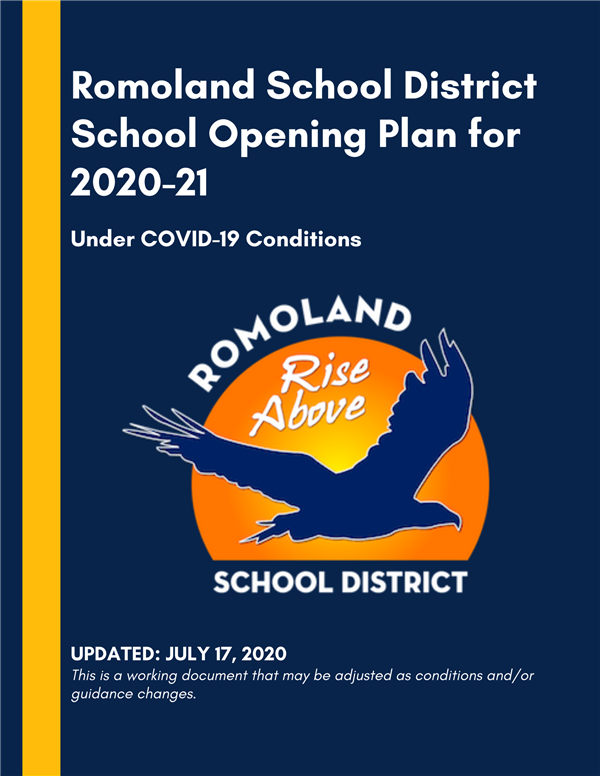RSD School Opening Plan for 2020-21