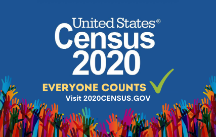 United States Census 2020. Everyone counts. Visit 2020CENSUS.GOV