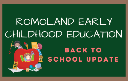 Romoland Early Childhood Education Back to School Update