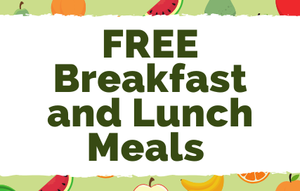 free breakfast and lunch meals