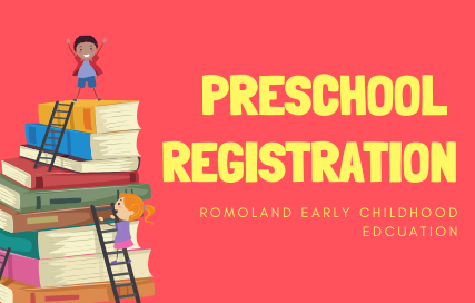 Preschool Registration, Romoland Early Childhood Education