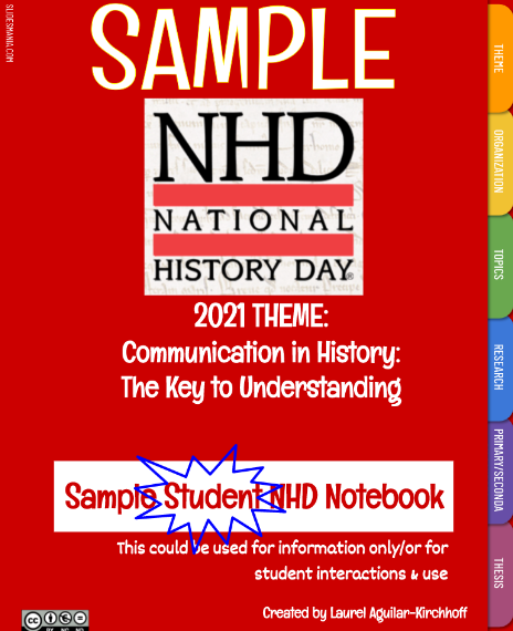 Sample Student NHD Notebook